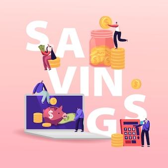Illustrazione di risparmio