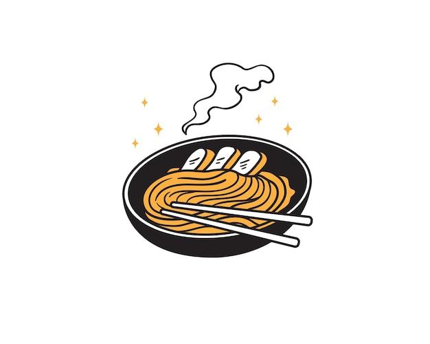 Noodles ramen asiatici salati