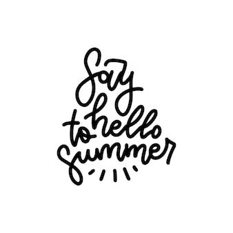 Saluta la tipografia estiva