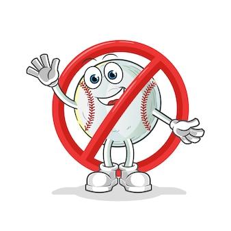 Dire di no all'illustrazione della mascotte di baseball