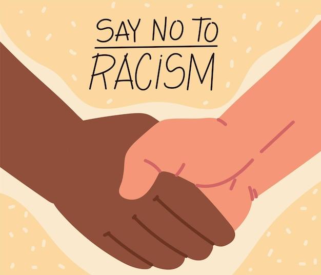 Dì no alla stretta di mano del razzismo