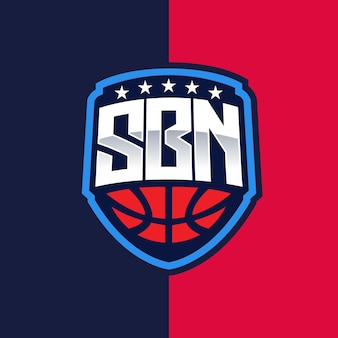Emblema del logo sbn esport e sport