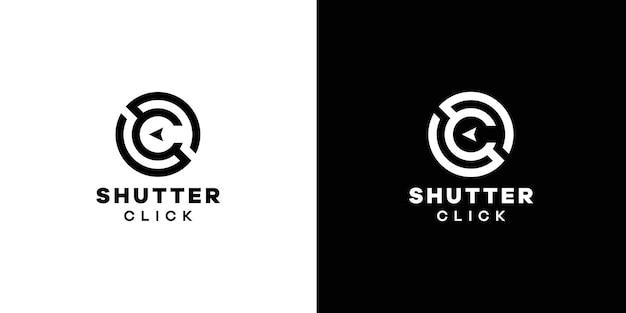 Design del logo dell'otturatore sc