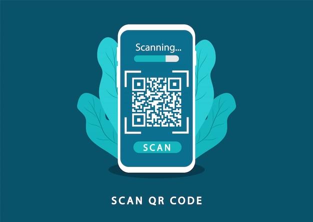 Scansiona il codice qr. codice qr di verifica.