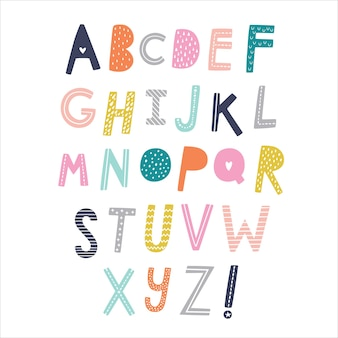 Alfabeto scandinavo. carattere grafico disegnato a mano.