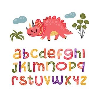 Set alfabeto scandinavo carino fantasia e clipart collezione colorata isolato el
