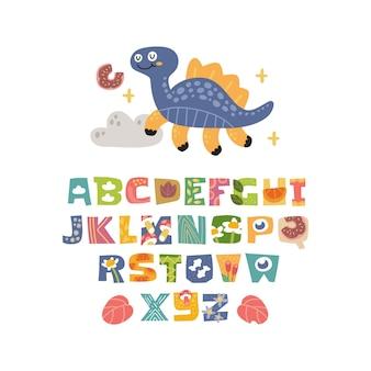 Set alfabeto scandinavo carino fantasia e clipart collezione colorata elemento isolato