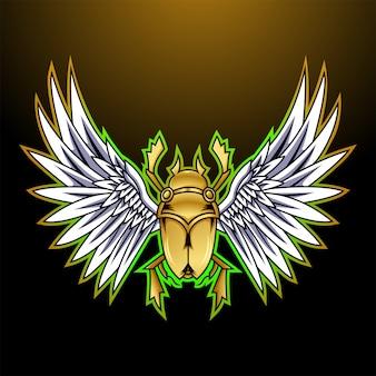 Logo mascotte scarabeo esport