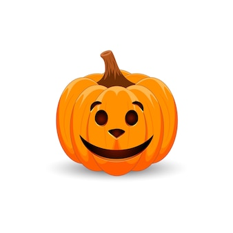 Zucca arancione spaventosa con faccia di cane per il tuo design per le vacanze di halloween