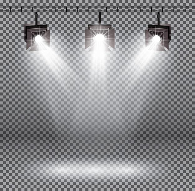 Effetti di illuminazione della scena con faretti
