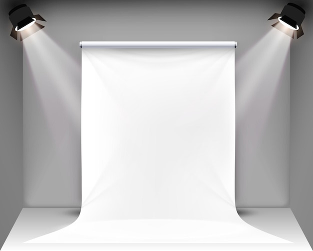 Scena palatno per shooting fotografico. illustrazione vettoriale