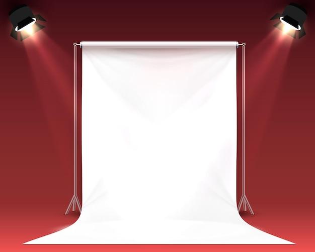 Scena palatno per shooting fotografico. illustrazione vettoriale Vettore Premium