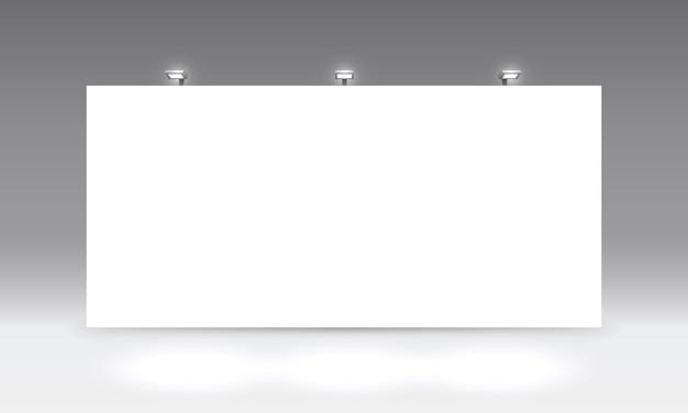 Scena spettacolo podio per presentazioni su sfondo grigio. illustrazione vettoriale Vettore Premium