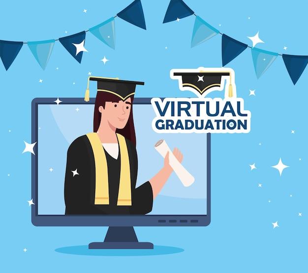 Scena della laurea virtuale