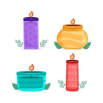 Collezione di candele profumate