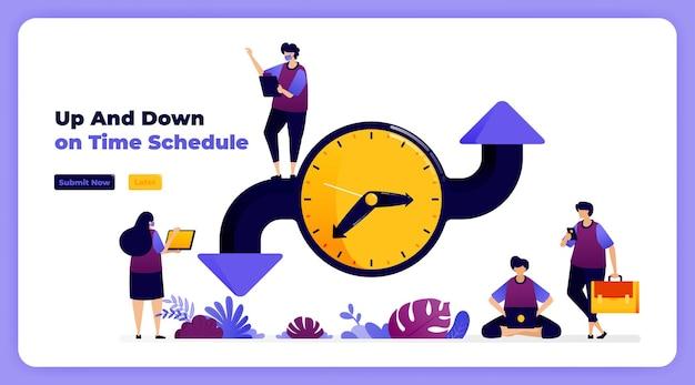 Pianifica e regola il tempo nell'organizzazione di eventi, riunioni e ordini del giorno.