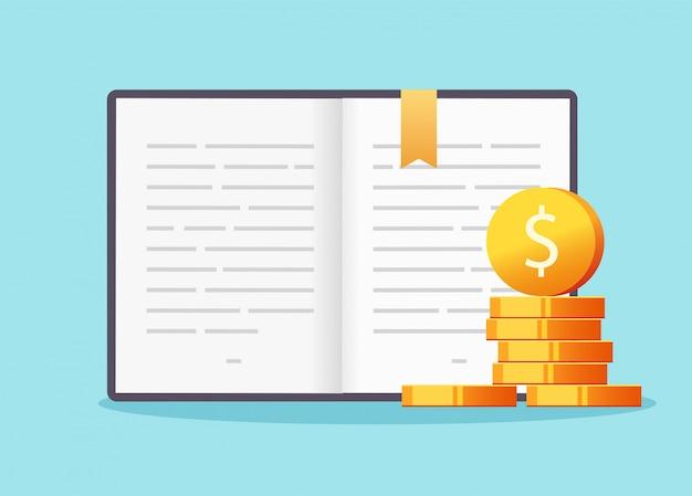Concetto di credito di denaro di istruzione di borsa di studio, vettore di tassa di prestito finanziario di lezioni di laurea