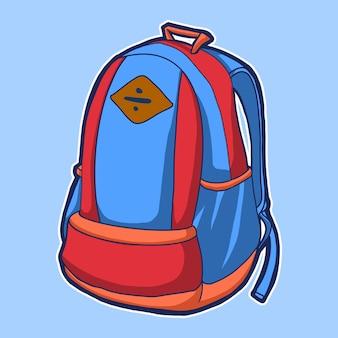 Illustrazione dello zaino del sacchetto di scuola
