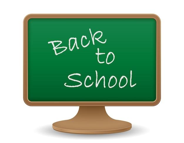Scuola lavagna monitor schermo concetto educativo illustrazione vettoriale illustrazione vettoriale isolato su sfondo bianco