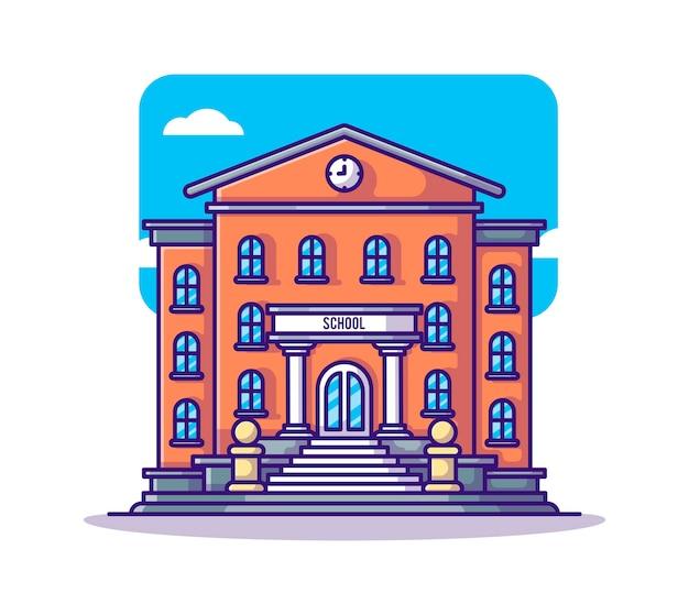 Cartone animato edificio scolastico