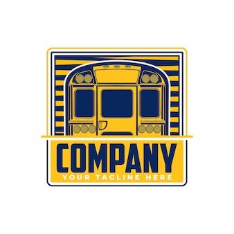 Logo della vista posteriore dello scuolabus