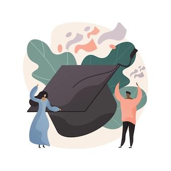 Illustrazione di concetto astratto del partito di celebrazione della scuola