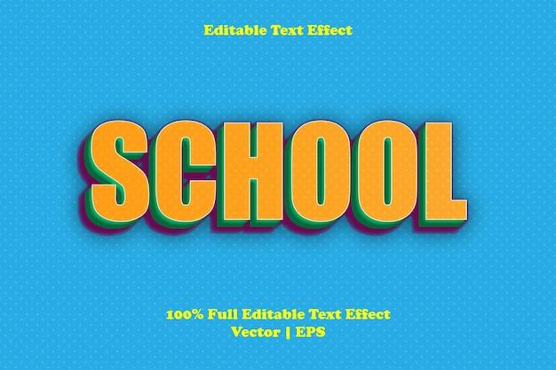Effetto di testo modificabile della scuola school