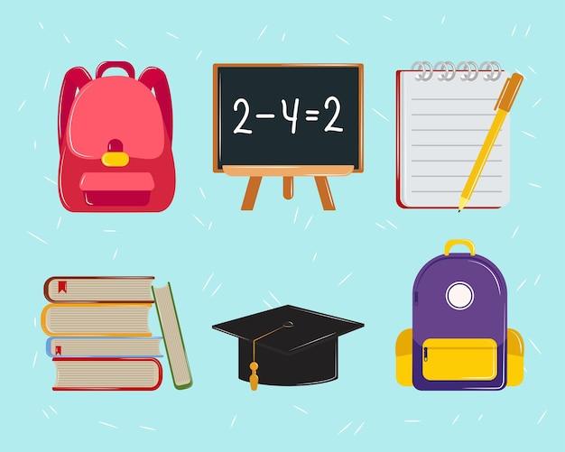 Icone di educazione scolastica