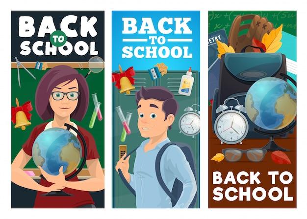 Istruzione scolastica, insegnante e alunno