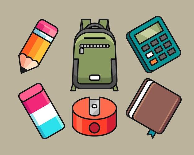 Set di attrezzature scolastiche