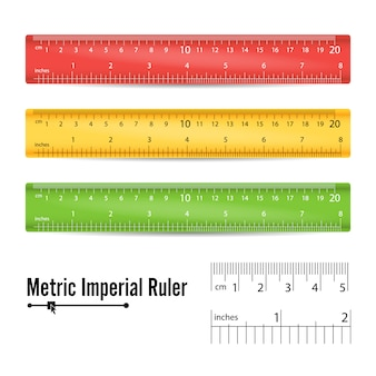 Righello di misurazione della scuola