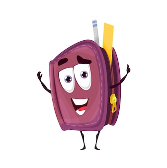 Astuccio scuola personaggio dei cartoni animati sorridente
