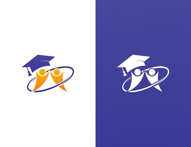 Progettazione del logo dello studio scolastico con il concetto di lavoro di squadra