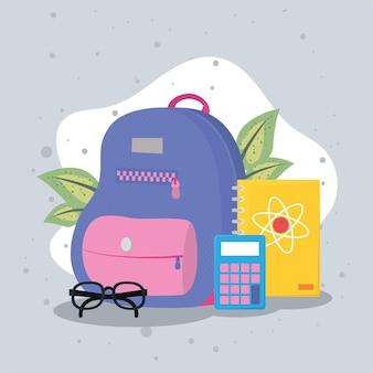 Zainetto e forniture icone educative