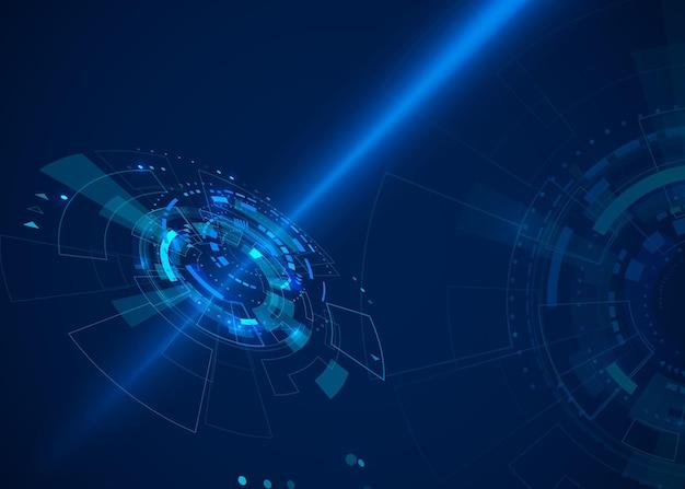 Fondo astratto di tecnologia del cyberspazio di sci-fi