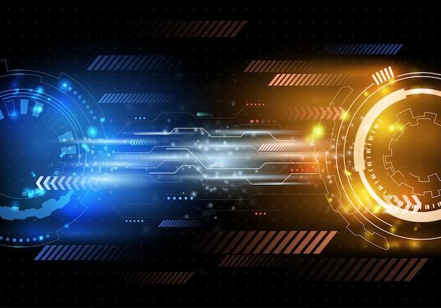 Interfaccia utente futuristica di fantascienza