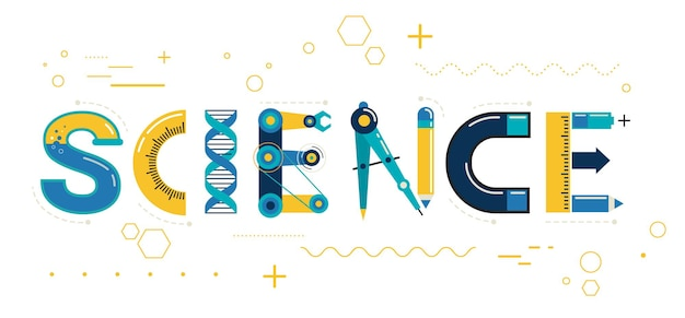 Tipografia e sfondo del banner scientifico