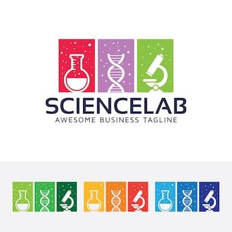 Modello di logo del vettore di laboratorio di scienza