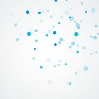 Molecola scientifica e struttura di connessione. sfondo astratto