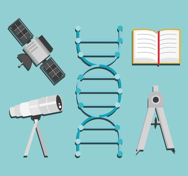 Icone di ricerca scientifica