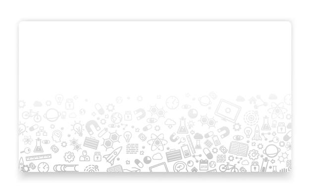Scienza e tecnologia, sfondo icona, concetto di pagina di destinazione. illustrazione vettoriale Vettore Premium