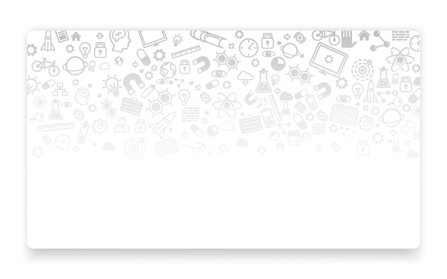 Scienza e tecnologia, sfondo icona, concetto di pagina di destinazione. illustrazione vettoriale