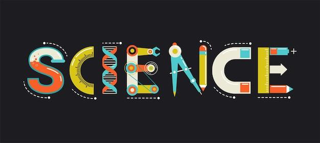 Tipografia scientifica e background