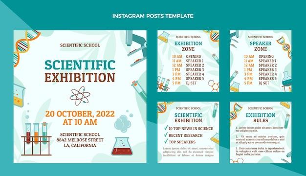 Mostra scientifica instagram post Vettore Premium