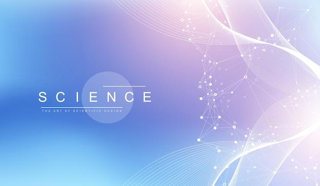 Illustrazione scientifica ingegneria genetica e concetto di manipolazione genica.