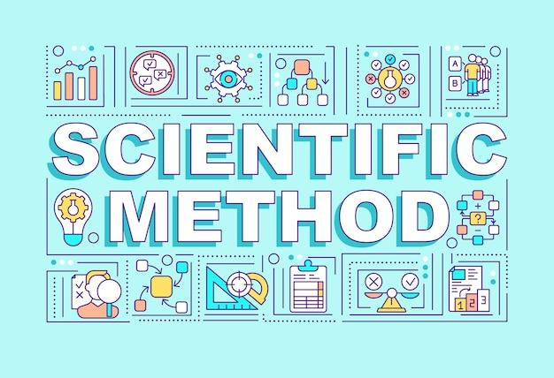 Banner di concetti di parola metodo scientifico