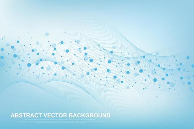Background molecolare scientifico per medicina, scienza, tecnologia, chimica.
