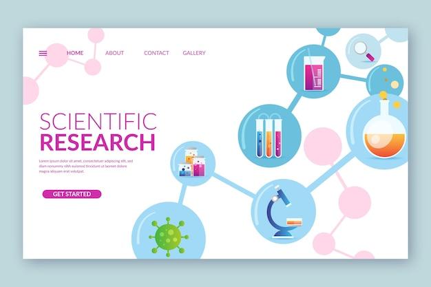 Modello di landing page di ricerca scientifica