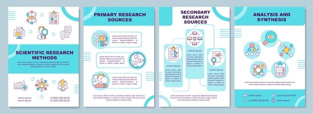 Modello dell'opuscolo dei metodi di ricerca scientifica