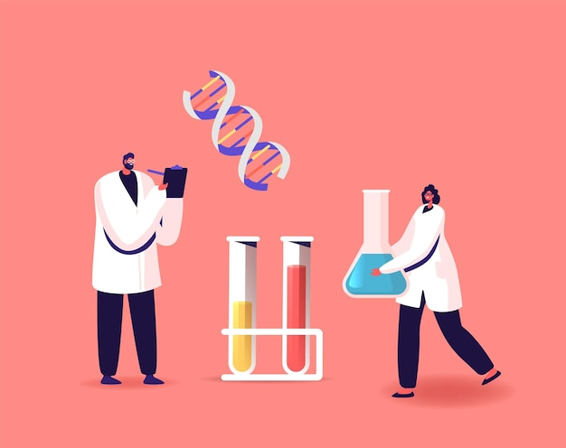 Scienziati personaggi lavoro scientifico